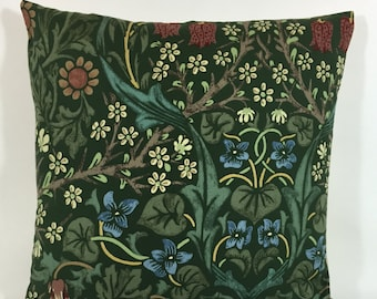 William Morris Blackthorn Green  Cushion Cover - 100% Cotton - Many Sizes Available Genuine William Morris Fabric - Stunning