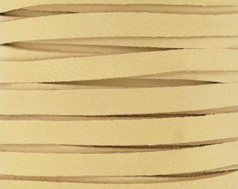 Leather Lace-3mm Deerskin Lace-Buckskin-2 Yards