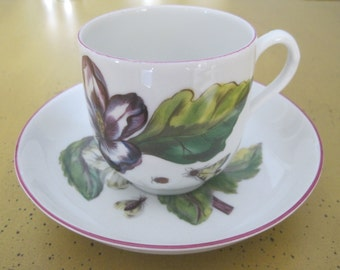 Vintage Mottehedeh Chelsea Botanical Cup and Saucer