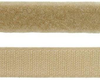 Sew-On Hook and Loop Tape, Beige