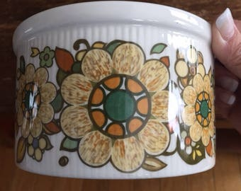 Vintage Royal Doulton Forest Flower Casserole Serving Dish, 1970s, Vintage Kitchen Decor