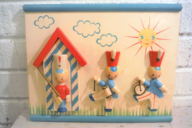Irmi nursery wall art marching band soldiers vintage boy