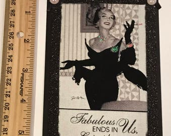 """Vintage Hollywood 3/12 x 5"""" set of 4 gift tags"""