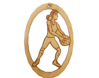 Basketball Ornament, Female - Basketball Ornaments - Basketball Gift - Basketball Gifts - Basketball Team Gifts - Personalized Free