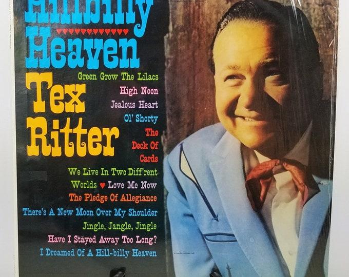 Rare Vintage Vinyl Record Tex Ritter 'Hillbilly Heaven' LP Album 1961 - Genuine Original - Shrink Wrapped - Capitol Records - Excellent!