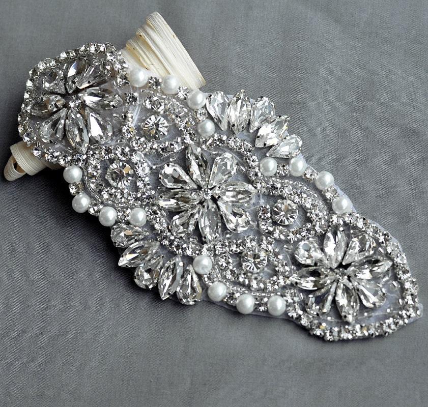 Rhinestone Applique Bridal Accessories Crystal Trim Rhinestone