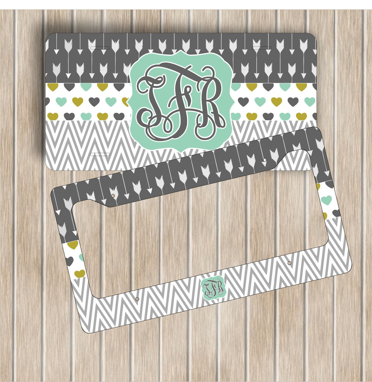 Monogram License Plate ~ Personalised License Plate Frame ~ Custom ...