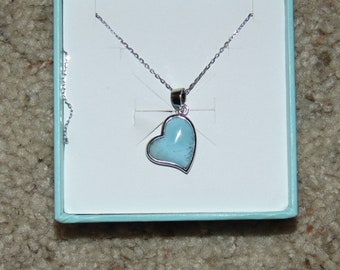 Turquoise Heart Necklace and Earrings