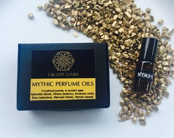 6 BOTANICAL PERFUME SAMPLES, perfume oil samples, vegan free sample Mythical perfume, perfumes, organic perfume