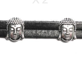 Passers beads for leather face of Buddha X 2 pieces