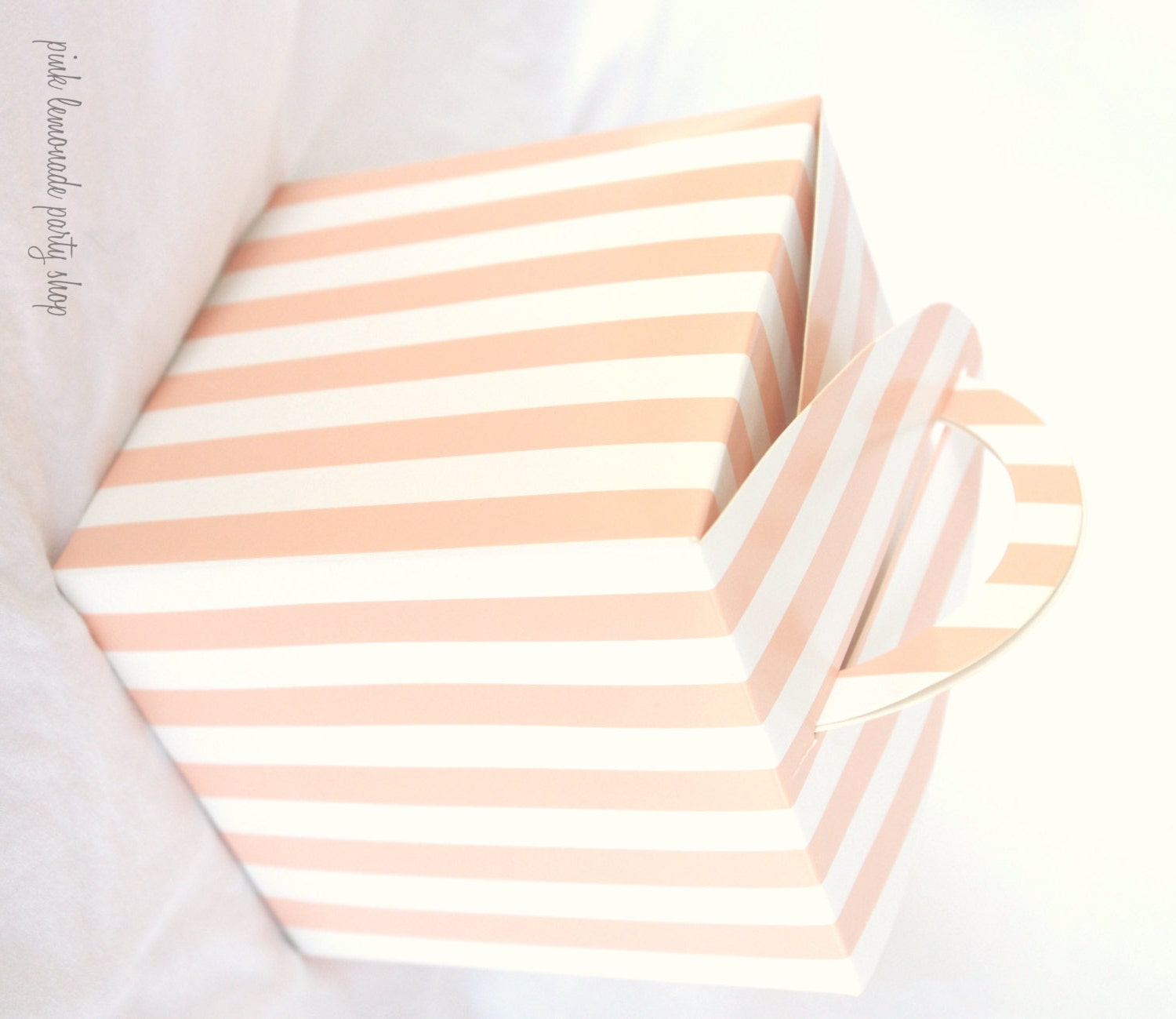 5 SofT Orange Stripe cupcake boxes-for Favors or Cupcakes-5 from ...