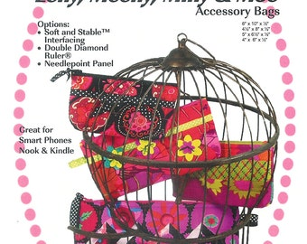 Eeny, Meeny, Miny & Moe Accessory Bags Paper Sewing Pattern by Eazy Peazy