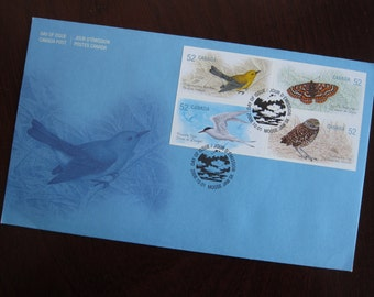 First Day Cover or Day of Issue Canadian Stamps, Endangered Species - For Collage & other Multi-Media Projects - There is only 1....