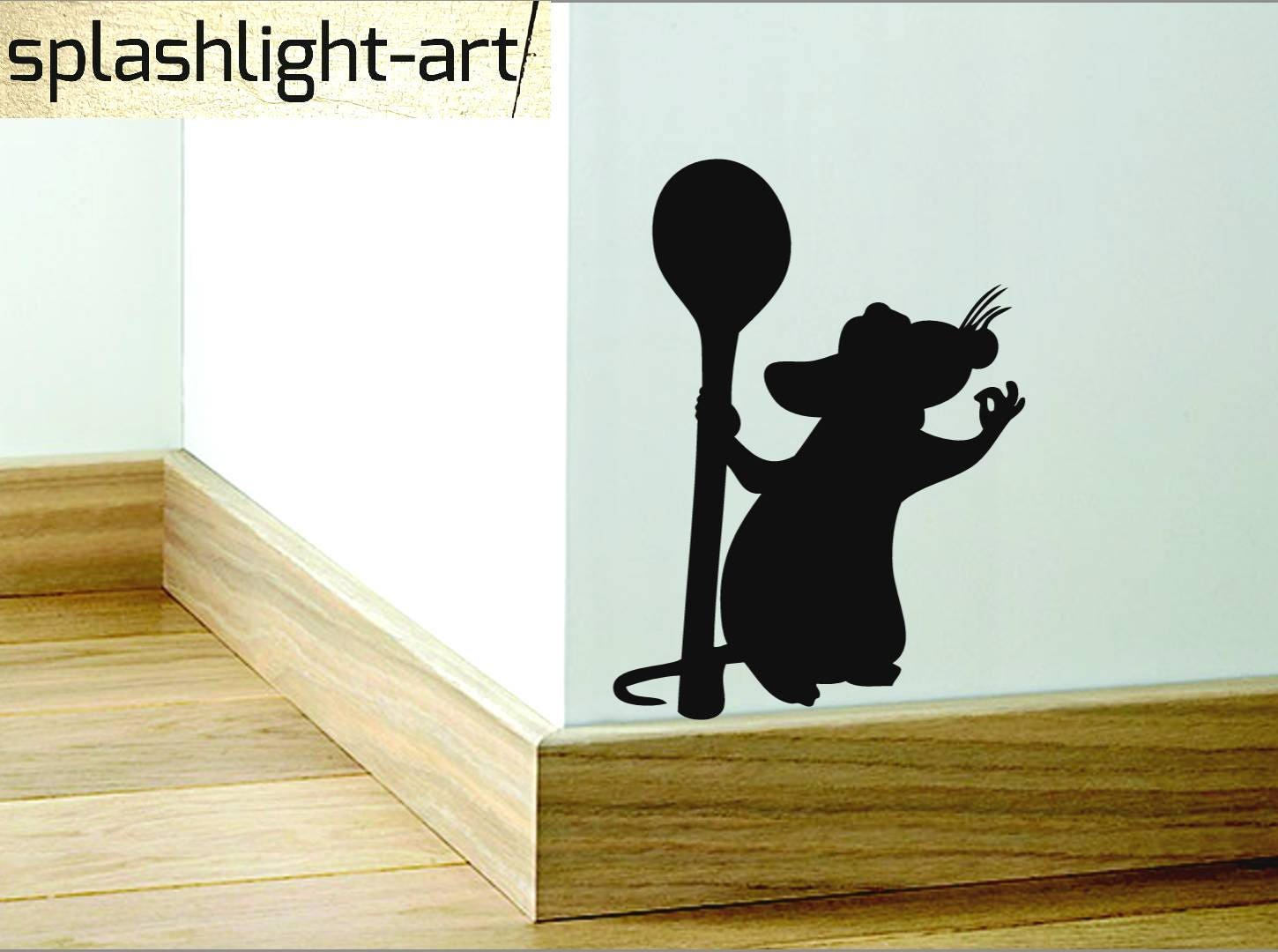 Ratatouille rat Remy Skirting Board vinyl wall Decal sticker
