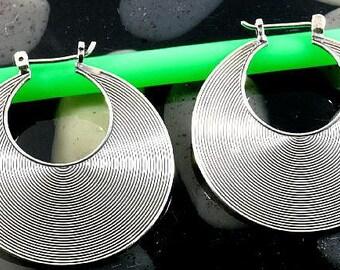 Hoops, 925 sterling silver   --  4489