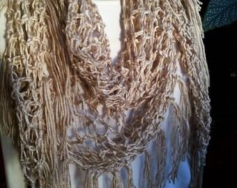 Easy Crochet Open Mesh Triangle Scarf PDF Pattern