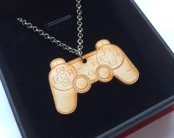 PlayStation controller necklace, ps4, gamer, playstation, playstation necklace, gamer keyring, gamer gifts, xbox keyring, xbox gifts, xbox