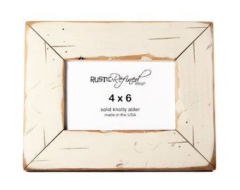 4x6 Cabin picture frame - White, Free Shipping