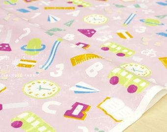 Japanese Fabric Kokka Trefle School - pink - 50cm