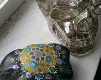 """Hand Painted Mandala Stone - """"Jess"""""""