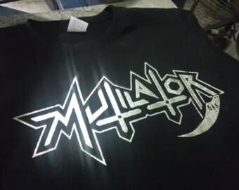 New MUTILATOR -LOGO  T shirt - S to XXL , Chakal,Sarcofaco,Holocausto,Sepultura,Anthares.