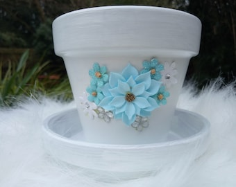 Suzie - a cute little plant pot with matching tray