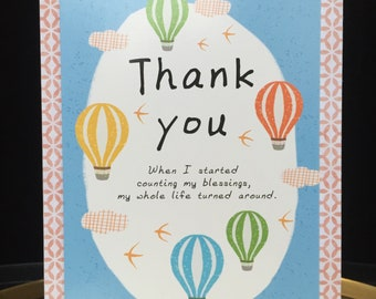 Counting My Blessings Thank You card