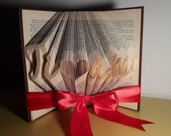 Libro decorativo - TI <3 AMO - Idee regalo . Book art - Folder book