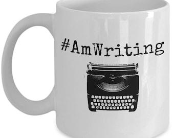 Writer Mug - Writer Coffee Mug - AmWriting - Writing Mug - Author Mug - Writer Gifts For Him - English Major Gift - College Student Gift