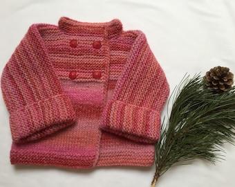 Pull en laine pour petite fille