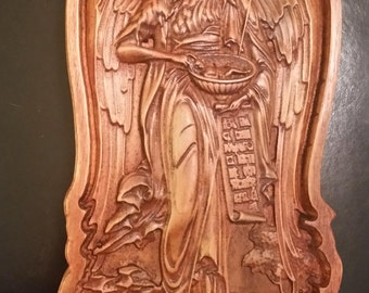 Original Carved Wooden Icon of John the Baptist