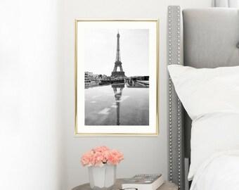 French Decor Black and White Prints // 30x45 Paris Photography // Eiffel Tower Wall Prints // Large Wall Art // Paris Decor // Travel Prints