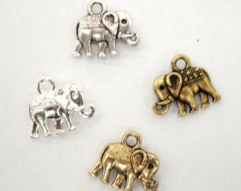 Elephant Charm - Elephant Charm Pendant - African Asian Asiatic Elephant Charms - Endangered Species Jewelry