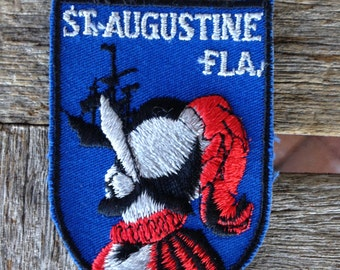 St. Augustine Florida Vintage Souvenir Travel Patch from Voyager