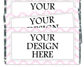 YOU PRINT - Wedding Candy Wrappers, Photo Candy Wrappers - fit over chocolate bars - CUSTOM design - bridal shower, wedding shower