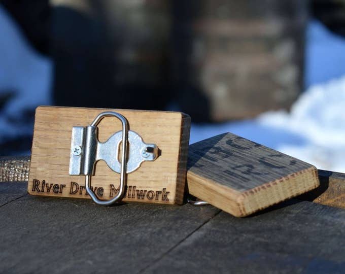 Whiskey Barrel Wooden Belt Buckle