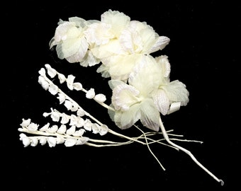 VINTAGE: Millinery Flowers Stems - Flower Picks - Flower Stems - Wedding Decor - Bouquets - (16-A6-00006827)