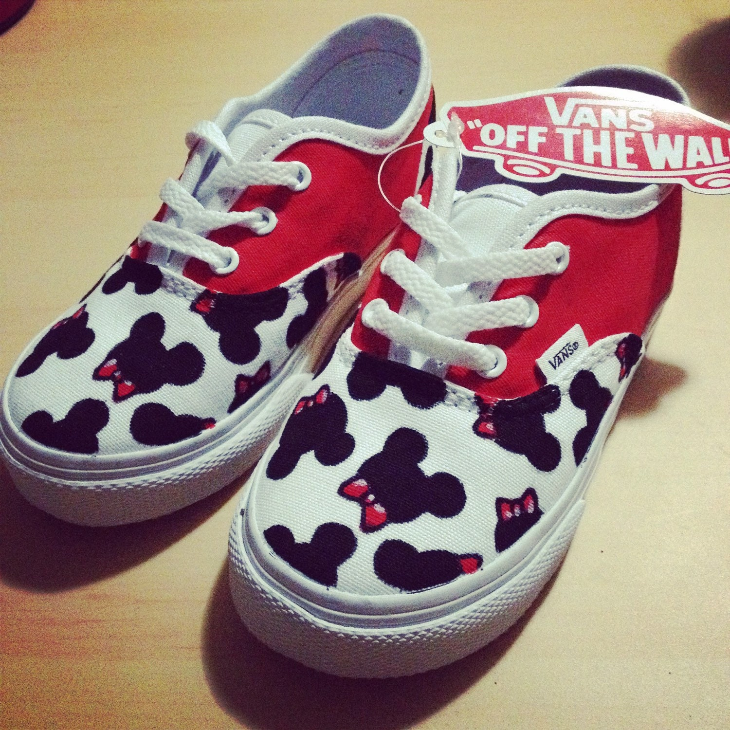 Mickey Mouse Bowties Toddler Custom VANS Shoes