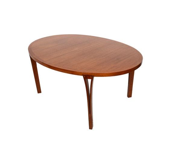Teak Dining Table Heltborg Mobler Oval Table Danish Modern