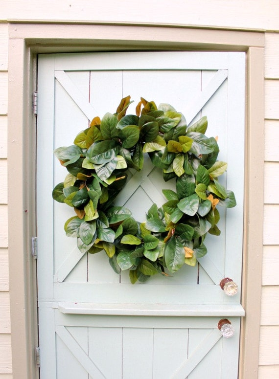 Bon Magnolia Wreath Summer Wreath Farmhouse Decor Front Door