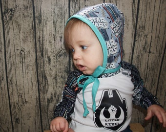 Star Wars Baby Hat   Star Wars Gift   Rebel Alliance   Baby Bonnet   May the Force be with You   Baby Sun Hat   Baby Hat   Baby Shower Gift