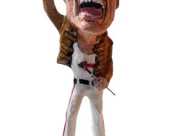 Freddie Mercury paper mache figure