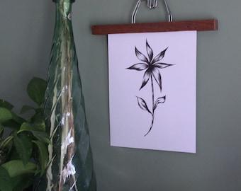 Wood + Metal hanger for prints and photo display
