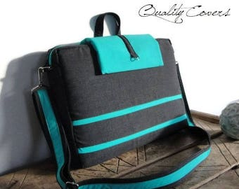 Customizable Laptop bag - Messenger bag / PADDED - Made to Order - can be any size and color