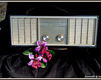 Radio, Vintage Philco Twin Speaker Radio, AM Tube Radio, Fathers Day Gift, Birthday Gift