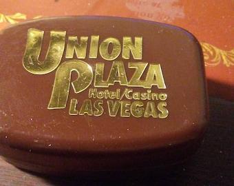 1970s vintage Union Plaza Las Vegas Casino soap dish souvenir - with soap!