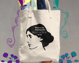 Virginia Woolf Tote, Literary Tote Bag, Bloomsbury Group, Book Lover Gift, Book Lover Bag, Bookworm for Her, Literary Gift, Bookish Gift