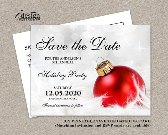 Items similar to Christmas Party Invitation Save The Date ...