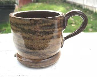 Handmade ceramic two-toned mug