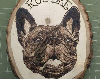 Custom Wood Burned Pet Portrait